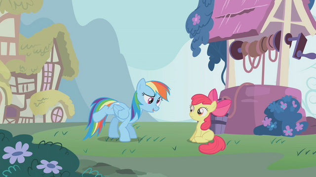 File:Rainbow Dash and Apple Bloom S1E12.png