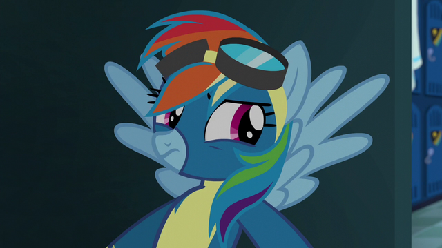 File:Rainbow hiding just outside the locker room S6E7.png