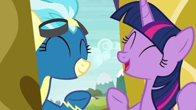 File:Twilight Sparkle and Misty Fly laughing S6E24.png