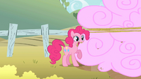 Pinkie Pie gorging on corralled clouds S2E01