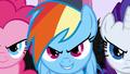 Fake evil ponies grin S2E26.png