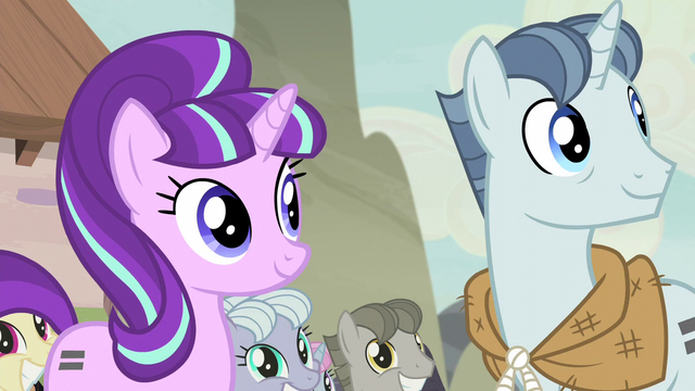 File:Starlight and Party Favor hear Fluttershy S5E2.png