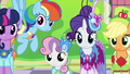Twilight and friends impressed by Tree Hugger S5E7.png