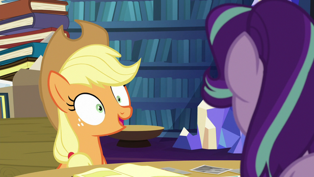 """File:Applejack """"however you want me to organize them"""" S6E21.png"""