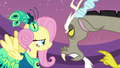 Discord and Fluttershy arguing S5E7.png