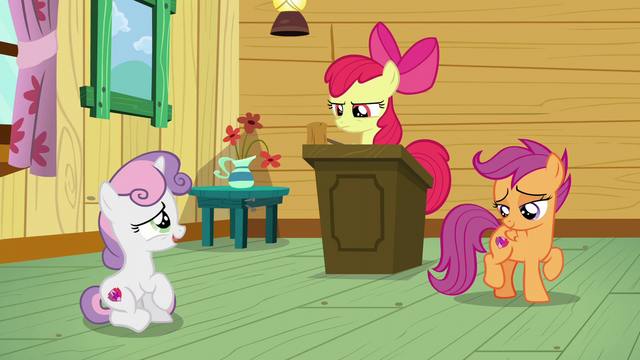 "File:Sweetie Belle ""I'm sorry, Apple Bloom"" S6E4.png"