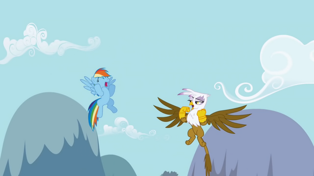 File:Dash and Gilda starting singing the chant S1E5.png