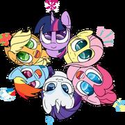 FANMADE Cute Mane Six in a circle