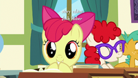 Apple Bloom in wide-eyed excitement S6E14
