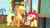 Applejack says she has to go to Manehattan S5E17