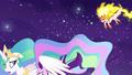 Celestia shields Starlight from Daybreaker's assault S7E10.png