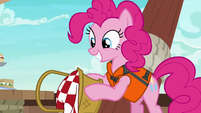Pinkie Pie dumps snacks onto the floor S6E22
