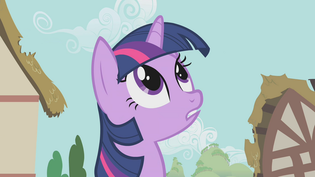 File:Twilight looking up at the parasprites S1E10.png