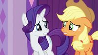 Rarity and Applejack worried S6E10