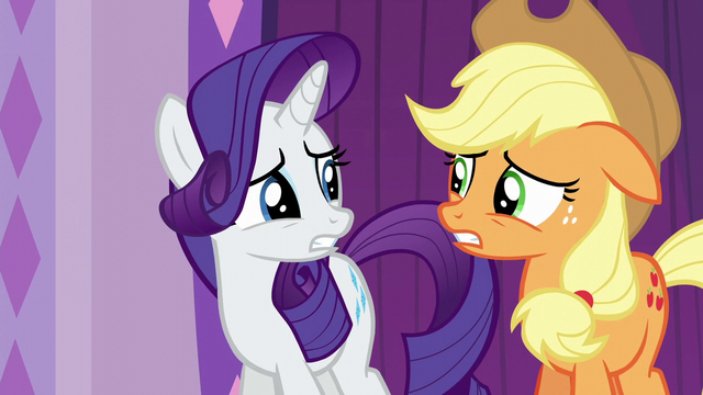 File:Rarity and Applejack worried S6E10.png