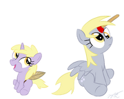 FANMADE Dinky and Derpy by loomx
