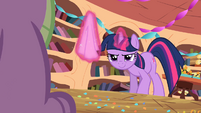 Twilight is ready to wipe Spike's cheek S2E10