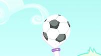 Principal Celestia catches the soccer ball SS8