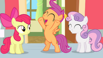 "Scootaloo thrilled ""I'm in!"" S4E05"