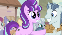 Starlight excitedly pushes Party Favor aside S5E2