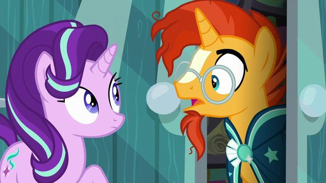 "File:Sunburst surprised ""the Princess of Friendship?"" S6E1.png"