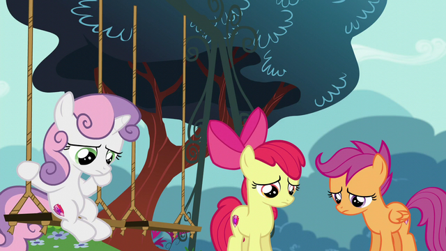 File:Sweetie Belle, Apple Bloom, and Scootaloo disappointed S6E4.png
