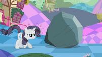 Grey Rarity guarding rock S2E2