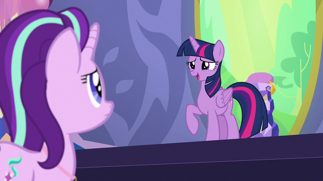 "File:Twilight Sparkle ""a second reason to celebrate"" S7E1.png"