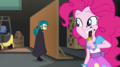 Pinkie Pie eating another Bon Mot candy bar EGS2.png