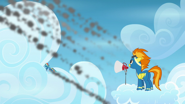 File:Rainbow Dash trails behind the others S6E7.png