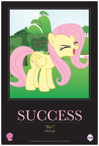 """File:Fluttershy """"Success"""" poster from ComicCon 2012.jpg"""
