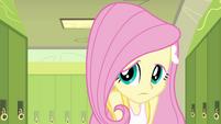 Fluttershy shy in front of Twilight EG