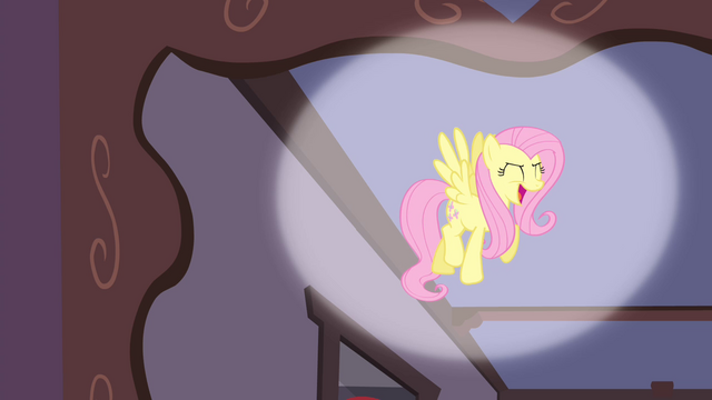 "File:Fluttershy singing ""I love the music"" S4E14.png"