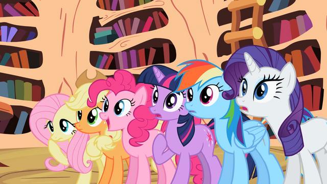 File:Main ponies surprised by Celestia's decision S2E3.png