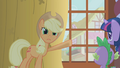 Applejack pointing to Zecora S1E9.png