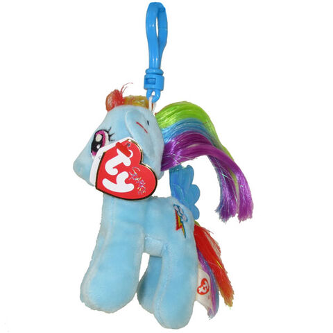 File:Rainbow Dash Ty Beanie Baby Tinsel keychain.jpg