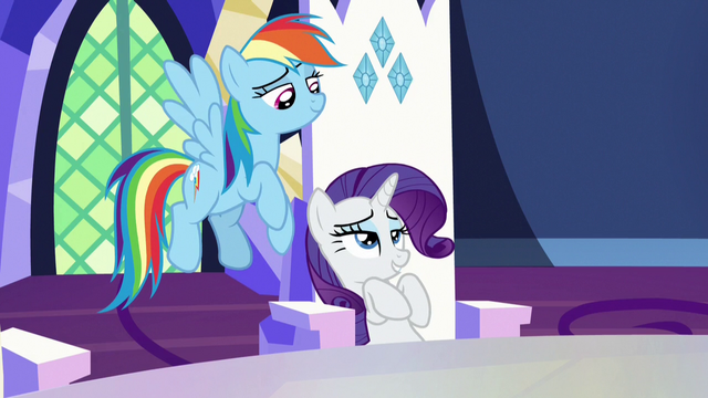 "File:Rarity ""hints of gold to complement their horns"" S7E11.png"