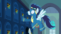 Soarin closing his locker S6E7