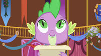 Spike looks up from list S1E01