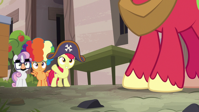 File:Disguised CMCs waving to Big McIntosh S7E8.png