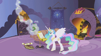 Princess Celestia in her study S1E05