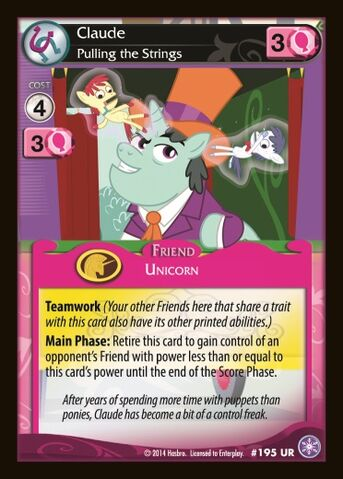 File:Claude, Pulling the Strings card MLP CCG.jpg