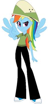 FANMADE Rainbow Dash Human Safari