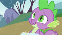 Spike telling Twilight Sparkle about picnic S2E03