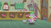 Spike causing a racket in the kitchen S1E09