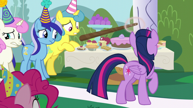 File:Moon Dancer pointing at Minuette, Twinkleshine, and Lemon Hearts S5E12.png