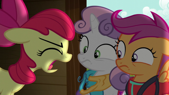 "File:Apple Bloom shouts ""nothing!"" S6E4.png"