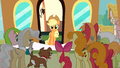Applejack returns at the train station S2E14.png