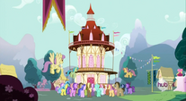 Ponies at town hall