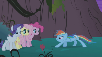 Rainbow 'Cause everypony who's ever come in...' S1E02
